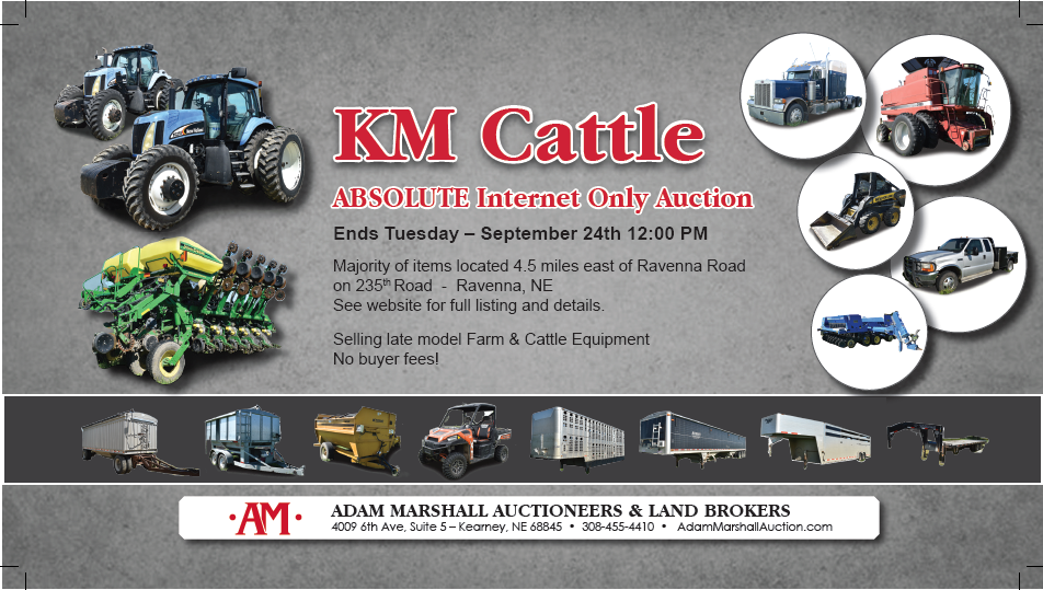 ABSOLUTE Online Only Farm Equipment Auction - KM Cattle